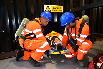 Lincolnshire firefighters carry out confined space service rescue training on 25-stone mannequins